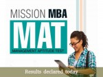 Mat September 2016 Results Declared