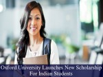 Oxford University Launches New Scholarship For Indian Students