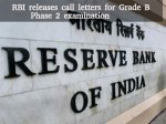 Rbi Releases Call Letters Grade B Phase 2 Examination