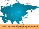 Top 75 Asia S Most Innovative Universities By Reuters
