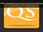 Upes Awarded Top Scores Qs Star Ratings