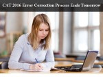 Day To Go Cat 2016 Error Correction Process Ends Tomorrow