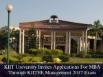 Kiit University Releases Kiitee Management Exam Dates Apply Now