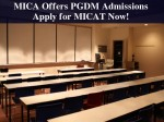 Mica Invites Applications For Pgdm C Programme Admissions Apply Now