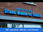 Sbi Specialist Officers Recruitment