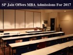 S P Jain School Global Management Invites Mba Applications