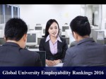 Global University Employability Rankings 2016 Top 25 Institutions