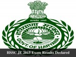 Hssc Je 2015 Exam Results Declared