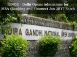 Ignou Opens Admissions Mba 2017 Batch