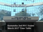 Karnataka 2nd Puc Exams March 2017 Time Table Released