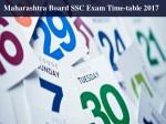 Maharashtra Board Ssc Class 10 Exam Time Table