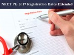 Neet Pg 2017 Registration Dates Extended