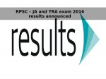 Rpsc Ja Tra Exam 2016 Results Announced