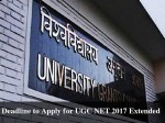Deadline To Apply For Ugc Net 2017 Extended