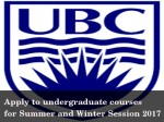 Admissions For Undergraduate Courses At University Of British Columbia