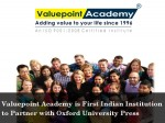 Valuepoint Academy Partners With Oxford University Press