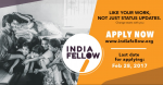 India Fellow Social Learning Programme For 2017 Session Apply Before February