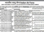 Indian Air Force Recruitment 2018 For Various Posts