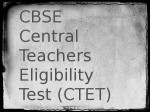 Cbse Released The Ctet 2018 Online Application