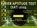 Xat 2019 Online Application Process To End On November