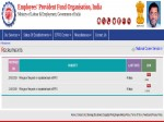 Epfo Recruitment 2019 For Engineering Cadres In Civil And Electrical Trades