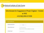 Nise Recruitment 2019 For Sr Project Engineer Scientists Earn Up To Inr 60000 Per Month