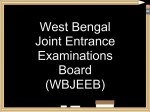 List Of Examinations Conducted By Wbjeeb In West Bengal