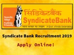 Syndicate Bank Recruitment 2019 Apply Online For 129 Sr Manager Manager And Security Officer Posts