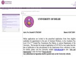 University Of Delhi Recruitment 2019 Apply Online For 263 Assistant Professors Post Before July