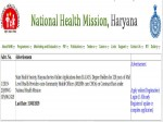 Nhm Haryana Recruitment Apply Online For 328 Mlhp Cum Cho Posts Earn Up To Rs 25000 A Month