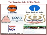 Government Jobs Of The Week Apply For Sbi So Iocl Ncb Io Dsssb And Hpcl Vacancies