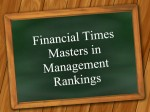 Financial Times Masters In Management Rankings 2019 Top Five Iims
