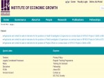Institute Of Economic Growth Apply For 123 Field Investigators Post Through Walk In Selection