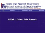 Nios Result For Class 10 And Class 12 October Exam