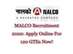 Nalco Recruitment 2020 For 120 Graduate Engineers Trainees Gtes Apply Online Before June