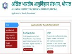 Aiims Bhopal Recruitment 2020 For 165 Faculty Posts Apply Online Before August