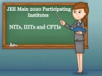 Jee Main 2020 Participating Institutes And Seat Matrix