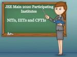 Jee Main 2020 Participating Institutes And Seat Matrix
