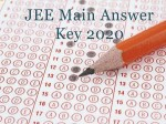 Jee Main Answer Key 2020 Click To Know The Right Answers