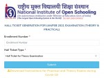 Nios Admit Card 2021 Download Class 10 And Class 12 Hall Ticket For January