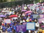 Karnataka Thousands Of School Teachers Staff Protest Against 30 Per Cent Fee Reduction