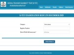 Kerala Tet Result For December 2020 Released