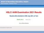 Seba Result 2021 Assam Hslc Result 2021 Link And Download Class 10th Marksheet