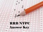 Rrb Ntpc Answer Key 2021 Pdf Download
