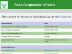 Fci Recruitment 2021 For 860 Watchman Posts Salary Up To Rs 64 000 Apply Online Before November
