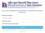 NIOS Admit Card 2021 Released For Class 10 And Class 12 Theory Examination