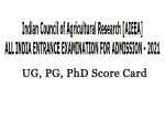 ICAR AIEEA 2021 Score Card Released, Here's How To Check ICAR AIEEA UG, PG, PhD Scores Provisional Here