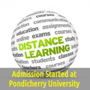 Admission Begin at Pondicherry University for Distance Learning Course