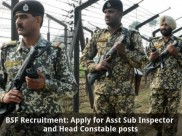 BSF Recruitment: Apply for Asst Sub Inspector and Head Constable Posts