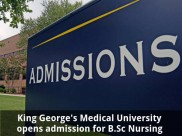 King George's Medical University opens admission for B.Sc Nursing